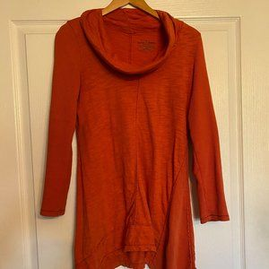 Neon Buddha cowl neck sweater